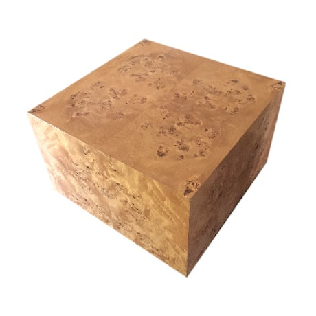 Burl Cube Coffee Table - Image 1 of 9