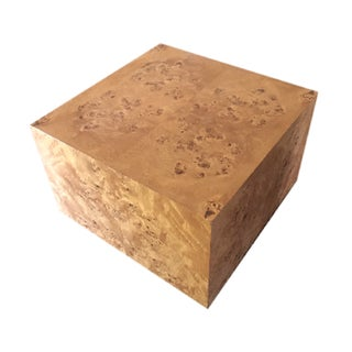Burl Cube Coffee Table