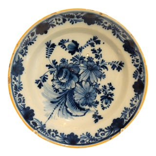 18th C. Delft Wall Plate