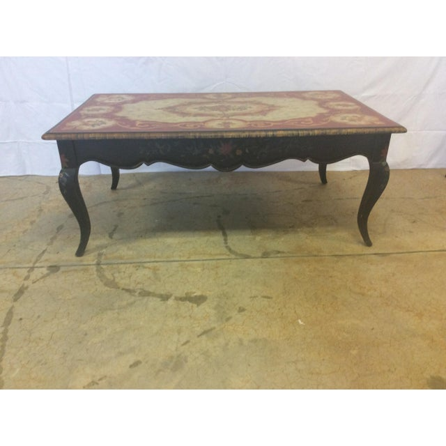 Maitland Smith Coffee Table Hand Painted By Artist Margaret Agner Chairish