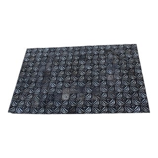 Hand-Stitched Zebra Pattern Hide Rug in A Patchwork Design - 6' x 9'