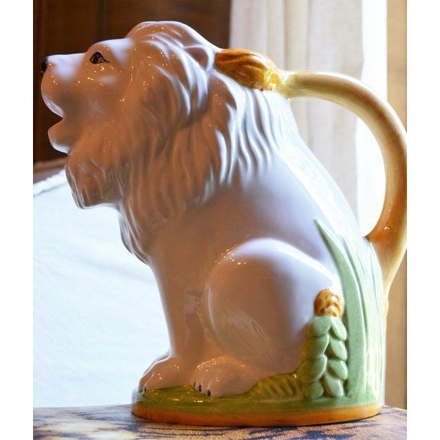 Vintage Italian Ceramic Lion PItcher - Image 4 of 10