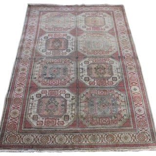 "Vintage Kayseri Turkish Rug - 4'10"" X 7'5"""