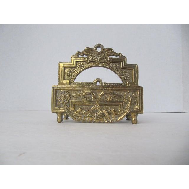 Vintage Brass Business Card Holder - Image 2 of 5