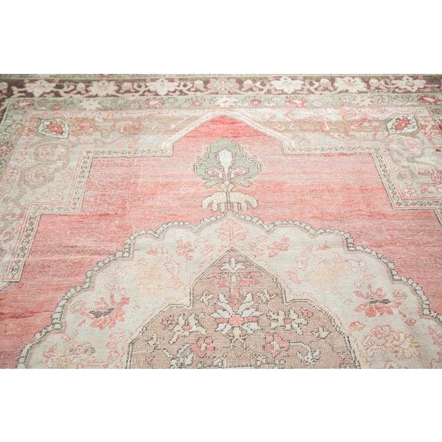 "Distressed Oushak Carpet - 7'6"" X 12'6"" - Image 9 of 10"