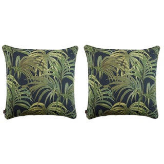 Palmeral Large Linen Cushions - a Pair