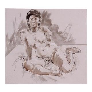 Seated Figure Study by Lois Davis