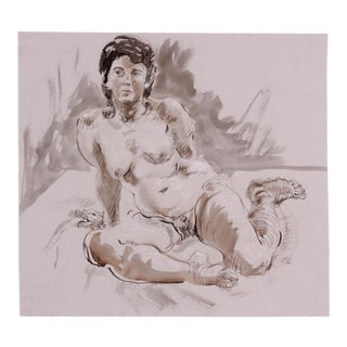 Seated Figure Study by Lois Davis
