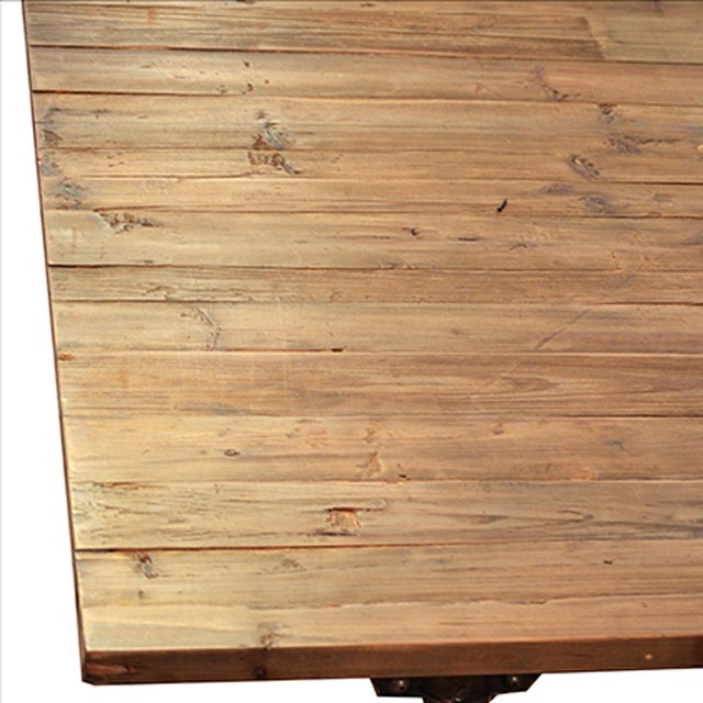 Reclaimed wood writing table on casters chairish for Reclaimed wood sources