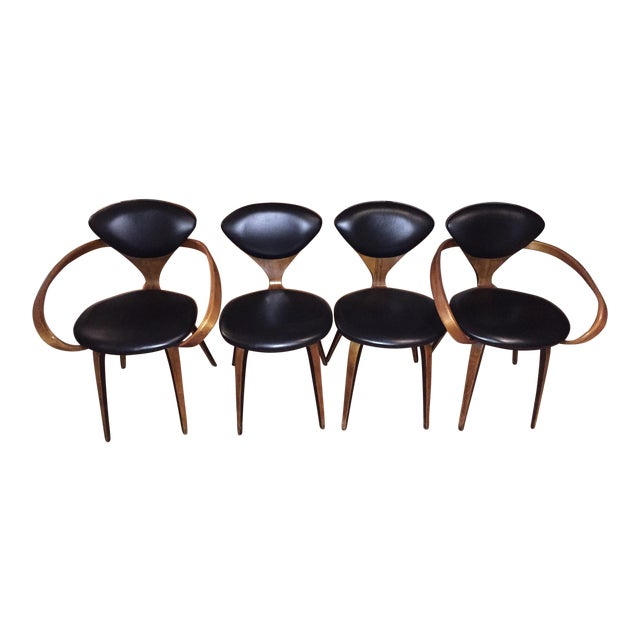 Norman Cherner Antique Chairs - Set of 4 - Image 1 of 11