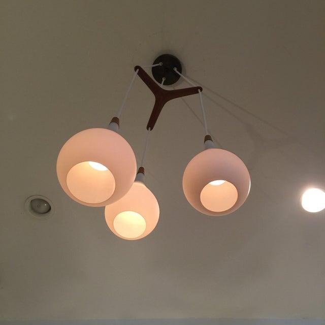 Laurel Walnut 3 Pendant Light Fixture - Image 5 of 11