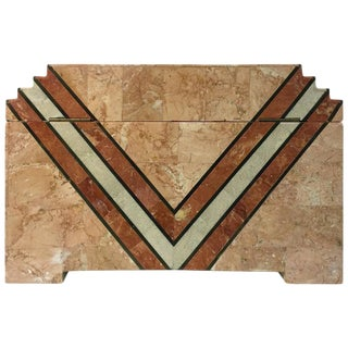 ART DECO INSPIRED BOX IN TESSELLATED MARBLE BY MAITLAND-SMITH