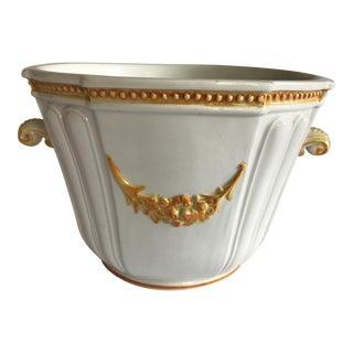 Italian Majolica Ceramic Planter