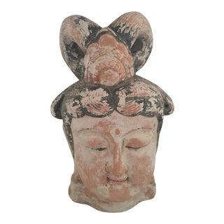 Quan Yin Terracotta Hand Painted Head