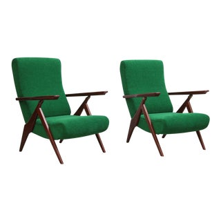 Rare Pair of Antonio Gorgone Reclining Lounge Chairs