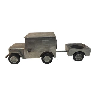 Steel Jeep Lighter, Cigarette Box & Ashtray