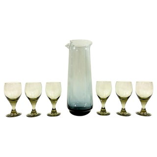 Mid-Century Cordial Carafe and Glasses