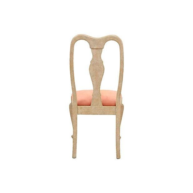 Queen Anne Blush Dining Chairs - Set of 6 - Image 6 of 7