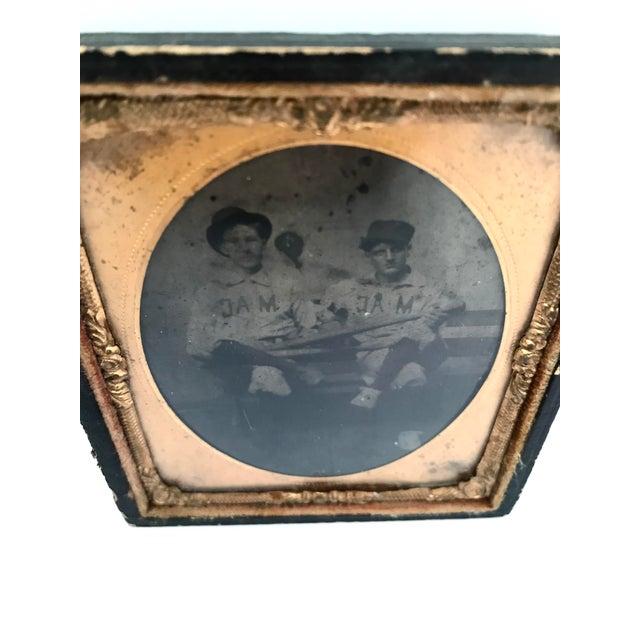 Daguerreotype Copper Framed Baseball Players - Image 2 of 3