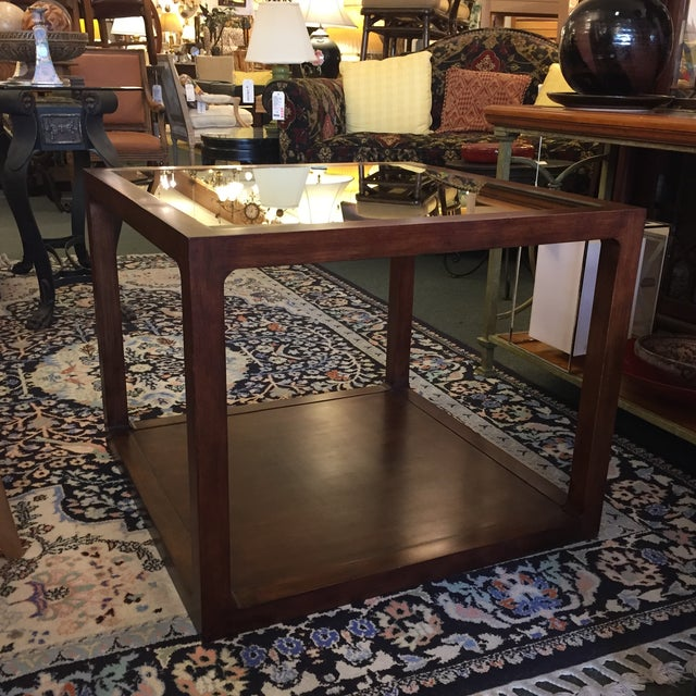 Custom Mirror Topped Side Table - Image 2 of 9