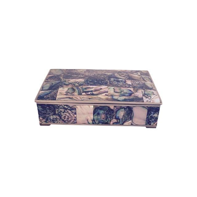 Large Abalone and Alpaca Box - Image 1 of 5