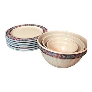 Southwest Motif Stoneware Set - Set of 9