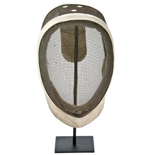 Vintage French Fencing Mask On Stand