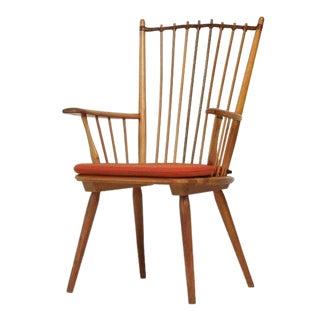 Architectural Arts and Crafts Chair by Albert Haberer for Hermann Fleiner