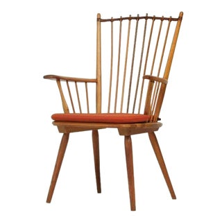Architectural Arts and Crafts Chair by Albert Haberer for Hermann Fleiner