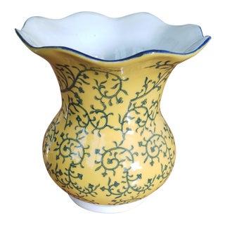 Yellow & Navy Chinese Vase