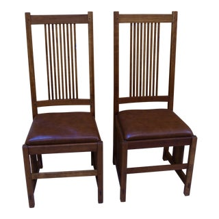 Stickley Mission Style Dining Chairs - A Pair