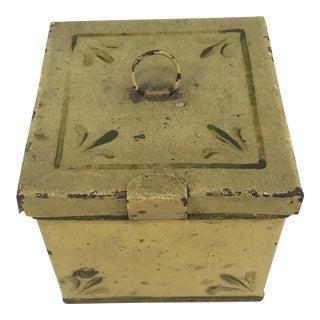 Small Antique Toleware Box