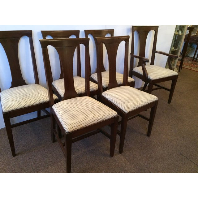 Image of Mahogany Dining Chairs with Slip Seats - Set of 6