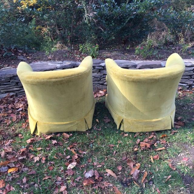 Ethan Allen Tufted Club Barrel Chairs A Pair Chairish