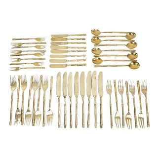Bronze Bamboo Flatware, 47 Pcs.