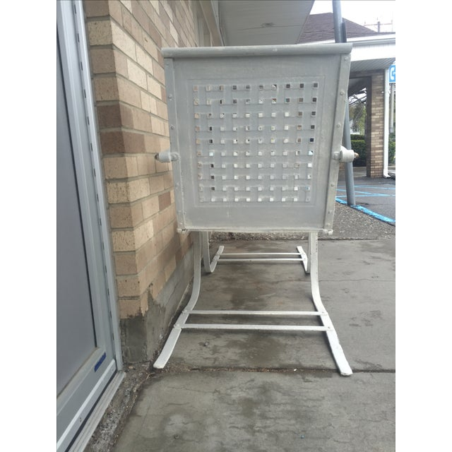 Mid-Century White Patio Chairs - A Pair - Image 6 of 7
