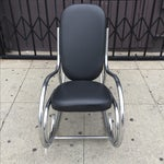 Image of Milo Baughman Style Rocking Chair