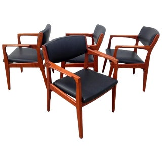 Danish Modern Mid Century Armchairs - Set of 4