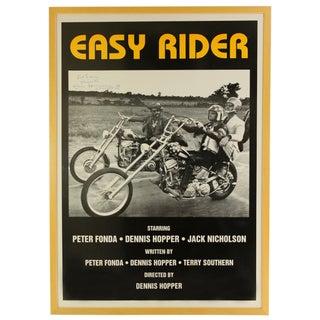 Dennis Hopper Signed Easy Rider Poster