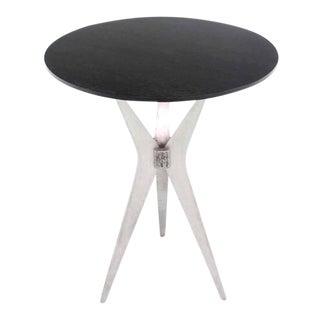 Tall Cast Aluminum Tri-Leg Base Round Cafe Dinette Table