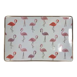 Contemporary Flamingo Motif Tray