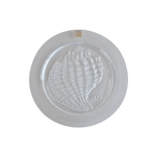 Lalique Coquillage Crystal Shell Plate