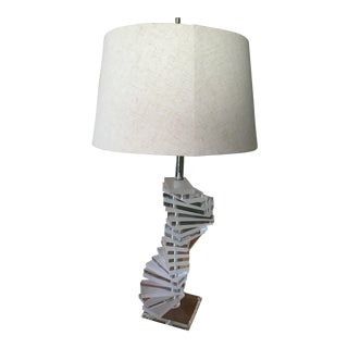 Mid-Century Modern Large Stacked Lucite Lamp