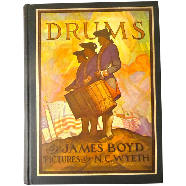 """""""Drums"""" Book Illustrated by N.C. Wyeth, 1928 - Image 1 of 11"""