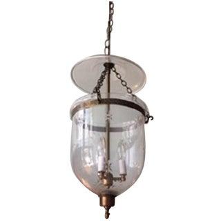 Etched Glass Three Light Lantern