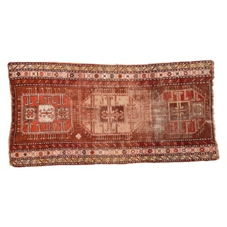 "Antique Caucasian Rug Runner - 3'7"" x 6'10"""