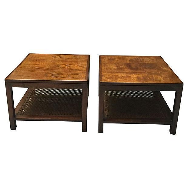 Image of Rosewood Side Table - Pair