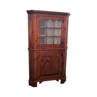 Stephen Von Hohen Bucks County Solid Pine Hand Crafted Corner Cabinet