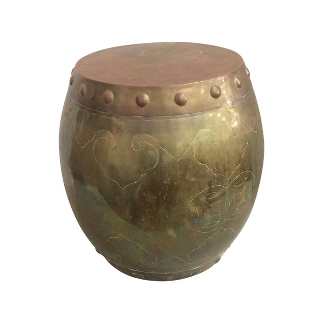 Vintage Asian Brass Garden Stool - Image 1 of 7