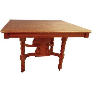 Antique Eastlake Oak Dining Table